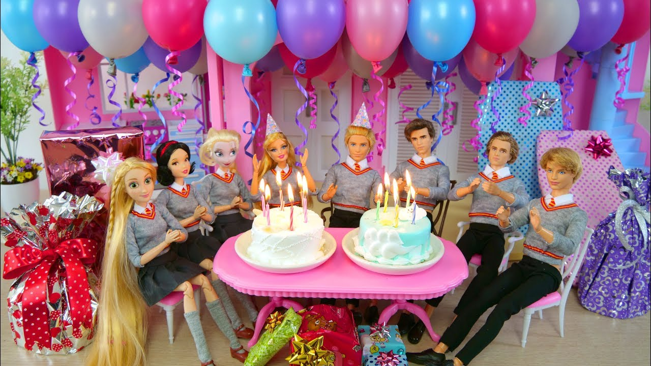 twin barbie ken s birthday party with friends pesta ulang tahun