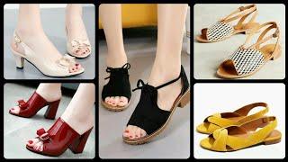 Women Chunky Heel Leather Casu…