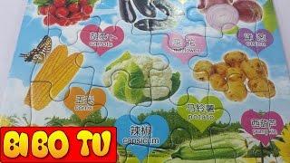 Fruit Puzzle Games For Kids  Đồ Chơi Xếp Hình Trẻ Em & Trò Chơi Ghép Hình Hoa Quả và Trái Cây Cho Bé