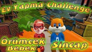 Örümcek Bebek ve Sincap Minecraft'ta Ev Yapma Yarışması Yapıyor Örümcek Çocuk  Minecraft Maceraları