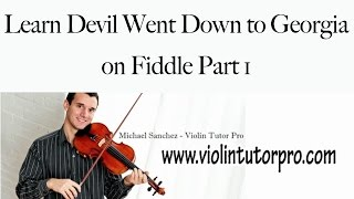Learn Devil Went Down to Georgia on Fiddle Part 1