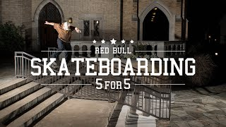 Video Five Skateboarders, Five Hammers Each | Red Bull Skateboarding 5 for 5 download MP3, 3GP, MP4, WEBM, AVI, FLV Agustus 2018