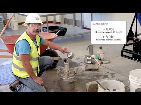 ASTM C231 - ACI Concrete Air Content Test, Pressure Method | SI Certs