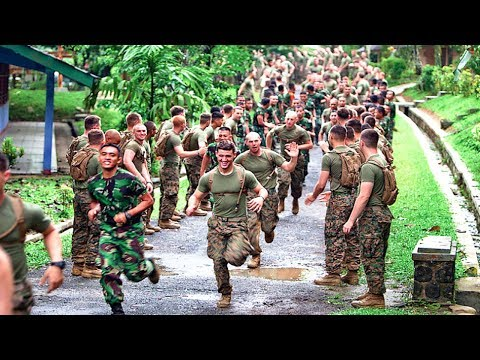 Indonesian Army & US Army Joint Physical Training Exercises & Sports Competition   Indonesia - US