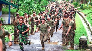Indonesian Army & Us Army Joint Physical Training Exercises & Sports Competition | Indonesia Us