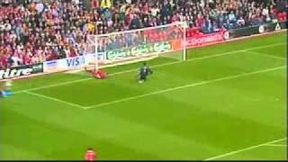 Liverpool footballer phil babb run up the pitch and then slides into goal post games was in 1998 vs chelsea
