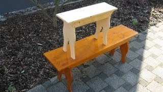 How to make a little Five Board Bench - woodworking