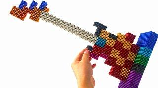 Вироби як зробити гітару з магнітних кульок | магнітна іграшка 【АСМР】