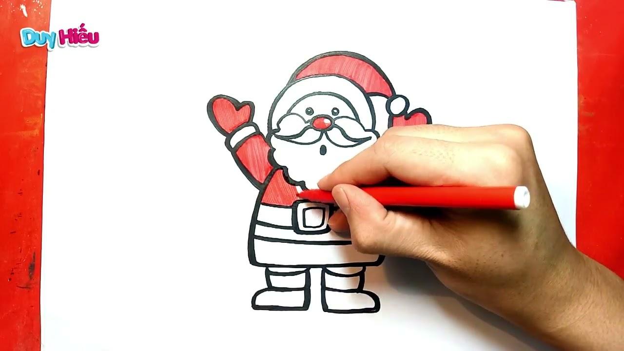 Vẽ ông già noel dễ nhất – Cách vẽ ông già noel đơn giản nhất – How to draw christmas santa claus
