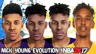 Nick Young Evolution  - Face Comparison (NBA 2K8 - NBA 2K17)