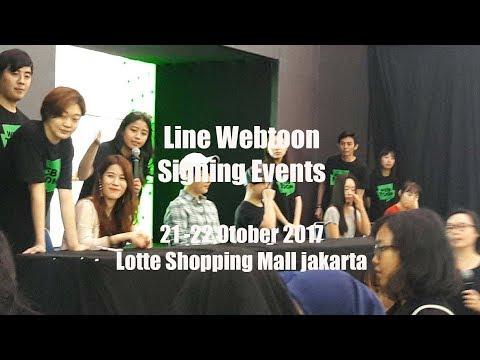 [ FANCAM ] Line Webtoon Signing Events at Lotte Shopping Mall Jakarta