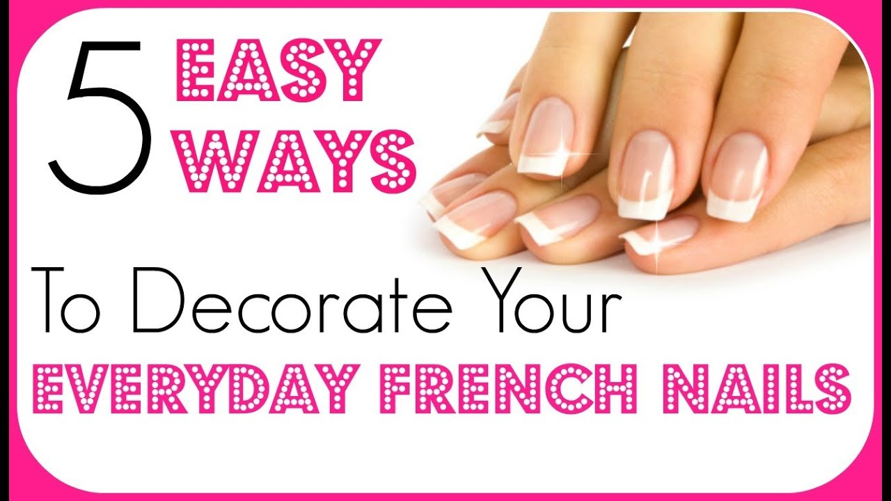 Easy Nail Art For Beginners | French Tip Nail Art Ideas ♥ - YouTube