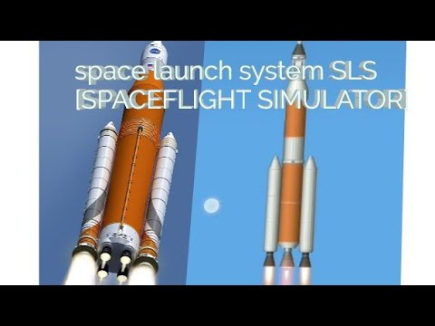 Orion spacecraft test flight with SLS (space launch system) Spaceflight simulator