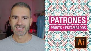 Diseño de patrones, patterns, prints o estampados en Illustrator // Marco Creativo