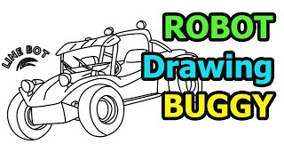 How to draw a Buggy quick & easy (Drawing for kids)
