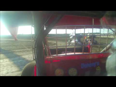 Sprint Car 7-30-16 Macon Speedway Hot laps in car