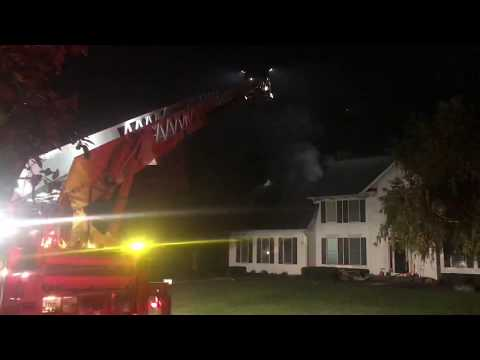 Saginaw Township MI Fire Department on scene of a 2 story house fire