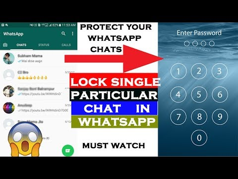 LOCK A SINGLE CHAT IN WHATSAPP | Latest Whatsapp tricks May 2017