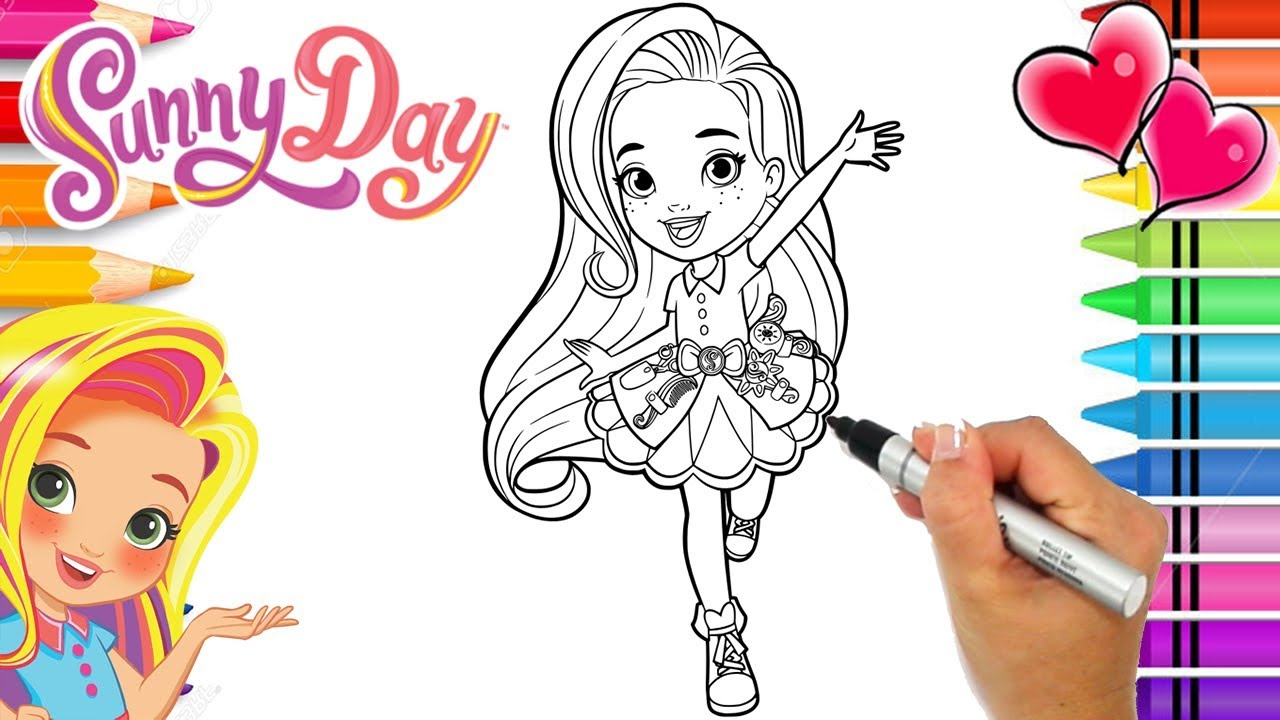 Coloring Sunny Day Hairstylist Book Page