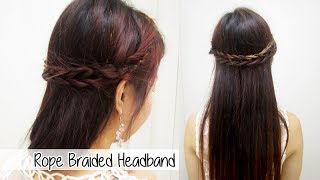 Double Rope Braided Headband l Quick Cute & Easy Hairstyles