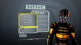 Borderlands 2 All Assassin DLC Heads and Skins (Supremacy, Madness and Domination)