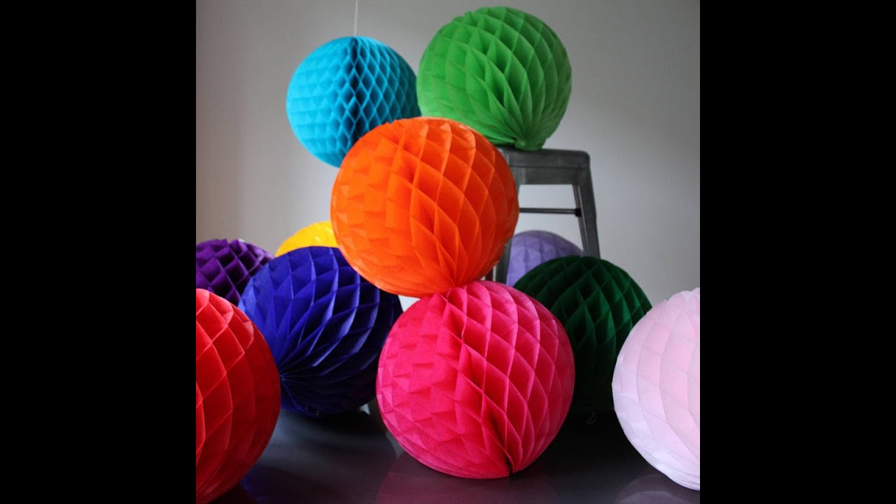 how to make tissue paper decoration balls Gently pull apart layers of tissue and fluff them to form a sphere alternate between pink, lime green and white tissue to create a striped effect or choose paper in varying shades of the same color for a floral effect.
