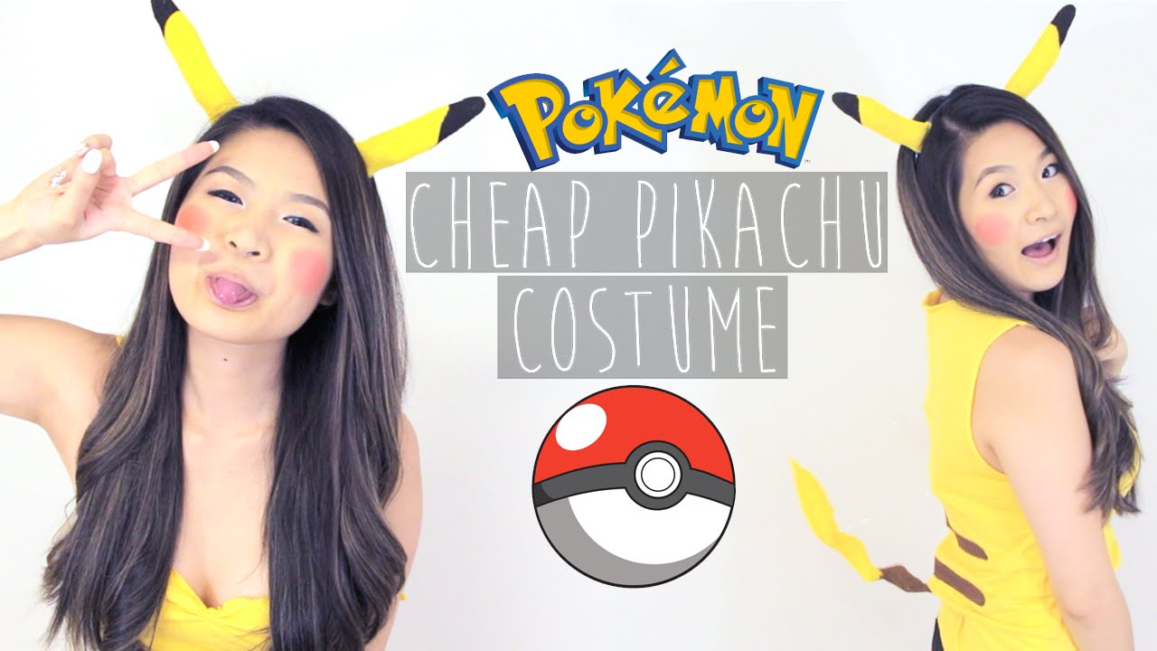 HALLOWEEN HOW TO | EASY DIY NO-SEW PIKACHU COSTUME - YouTube