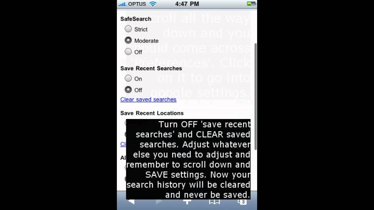How To Delete Google Search History On Your Iphone
