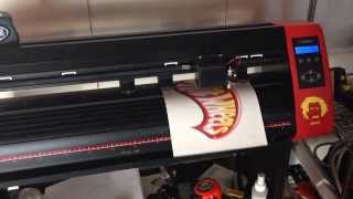 Cutter machine contour cutting logo * Heat Press T-Shirts