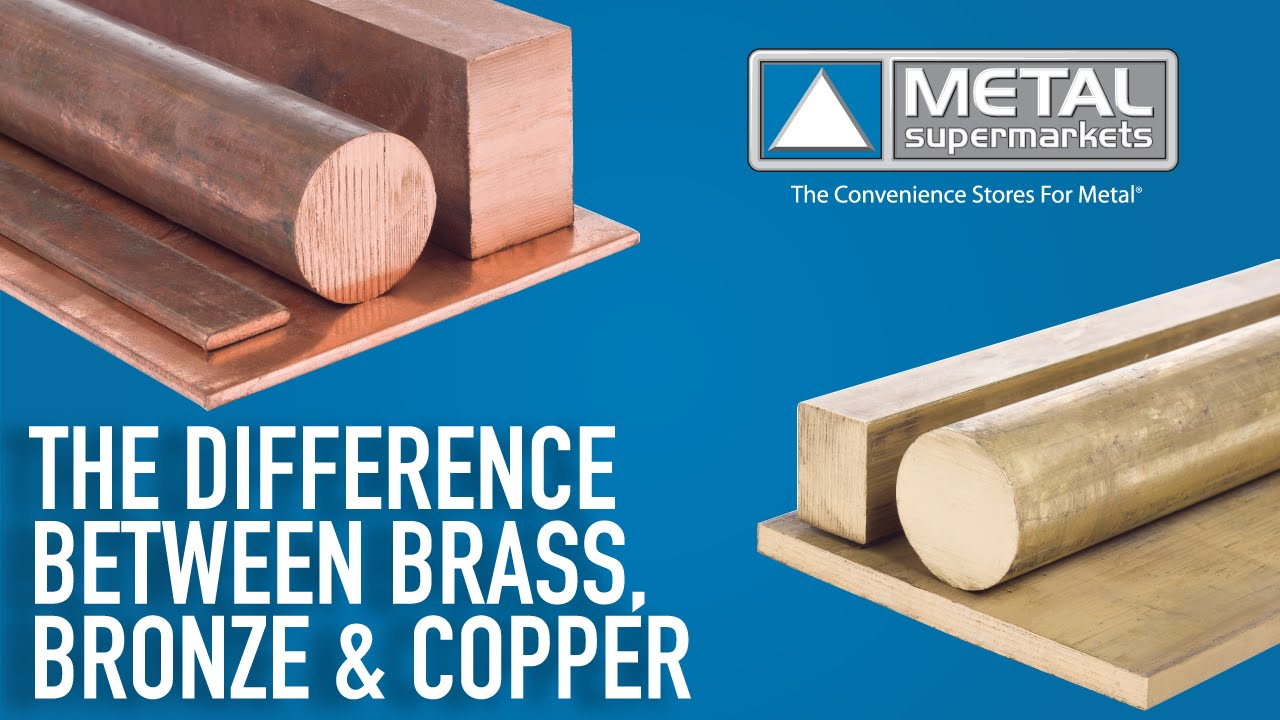 the difference between copper brass and bronze