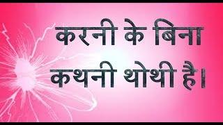 करनी के बिना कथनी थोथी है । राधा स्वामी सत्संग | Karni ke bina kathni thothi hai