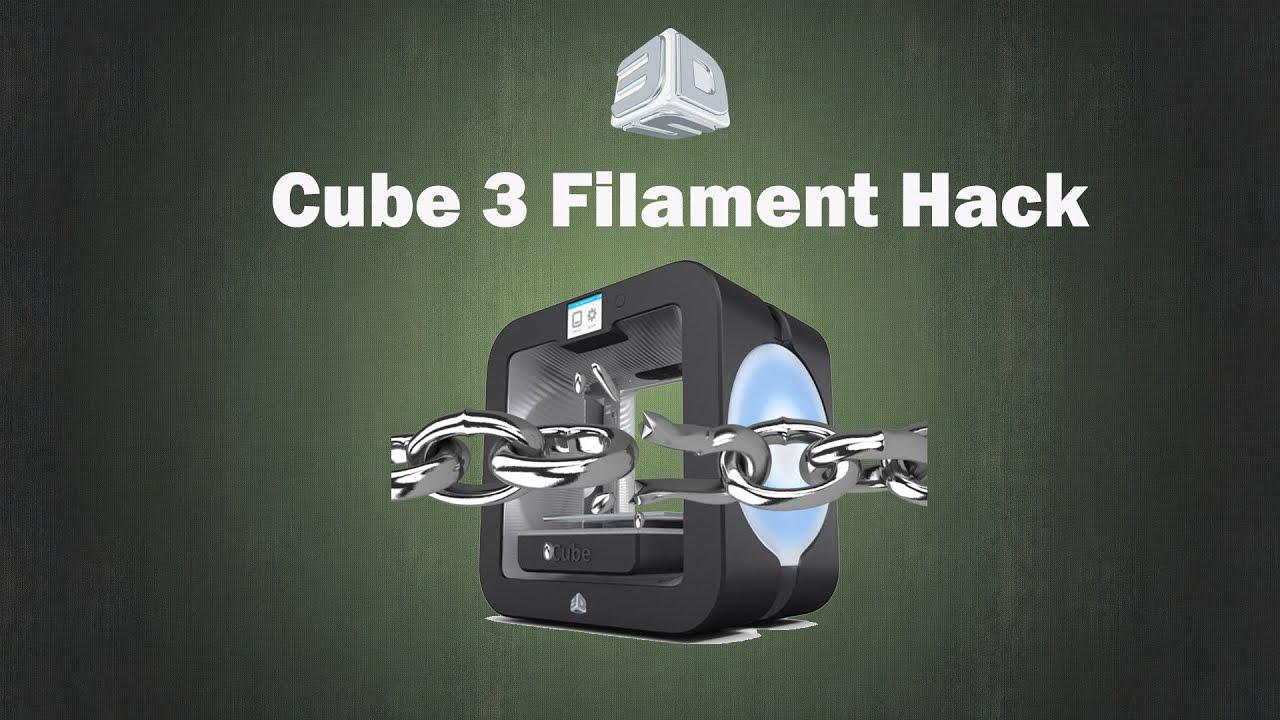 3D-System Cube 3 Printer Filament Hack | Doovi