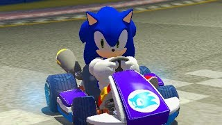 sonic the hedgehog in mario kart 8