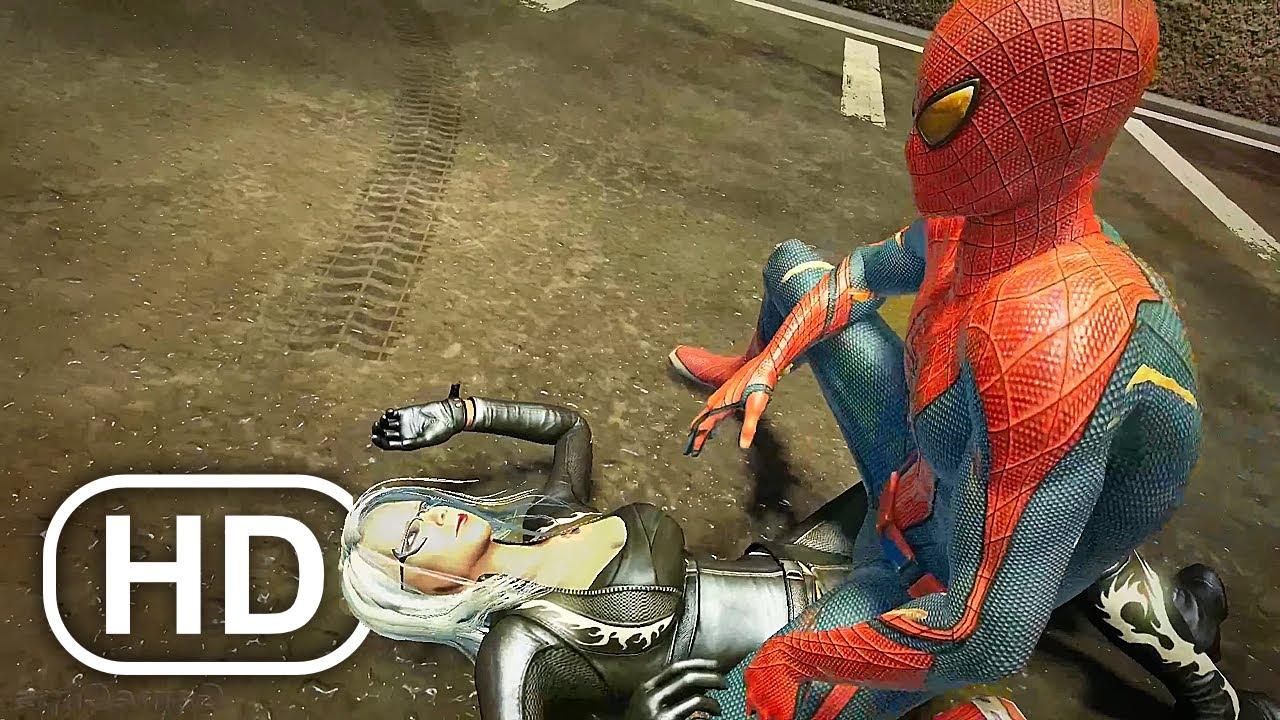 The Amazing Spider-Man Captures Black Cat Scene 4K ULTRA HD - Spider-Man Game