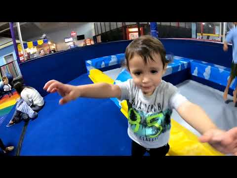 Bounce play with Hunter. GoPro Hero6 indoor low light
