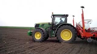Seeding Sunflower with John Deere 6190R & Kuhn Maxima 2RT