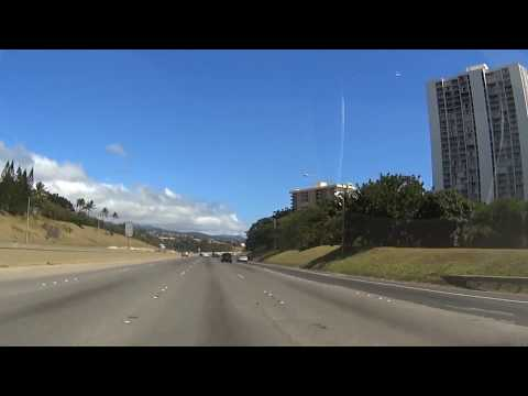 HAWAII H-1 Freeway from Kapolei to HNL Airport (1080p HD)