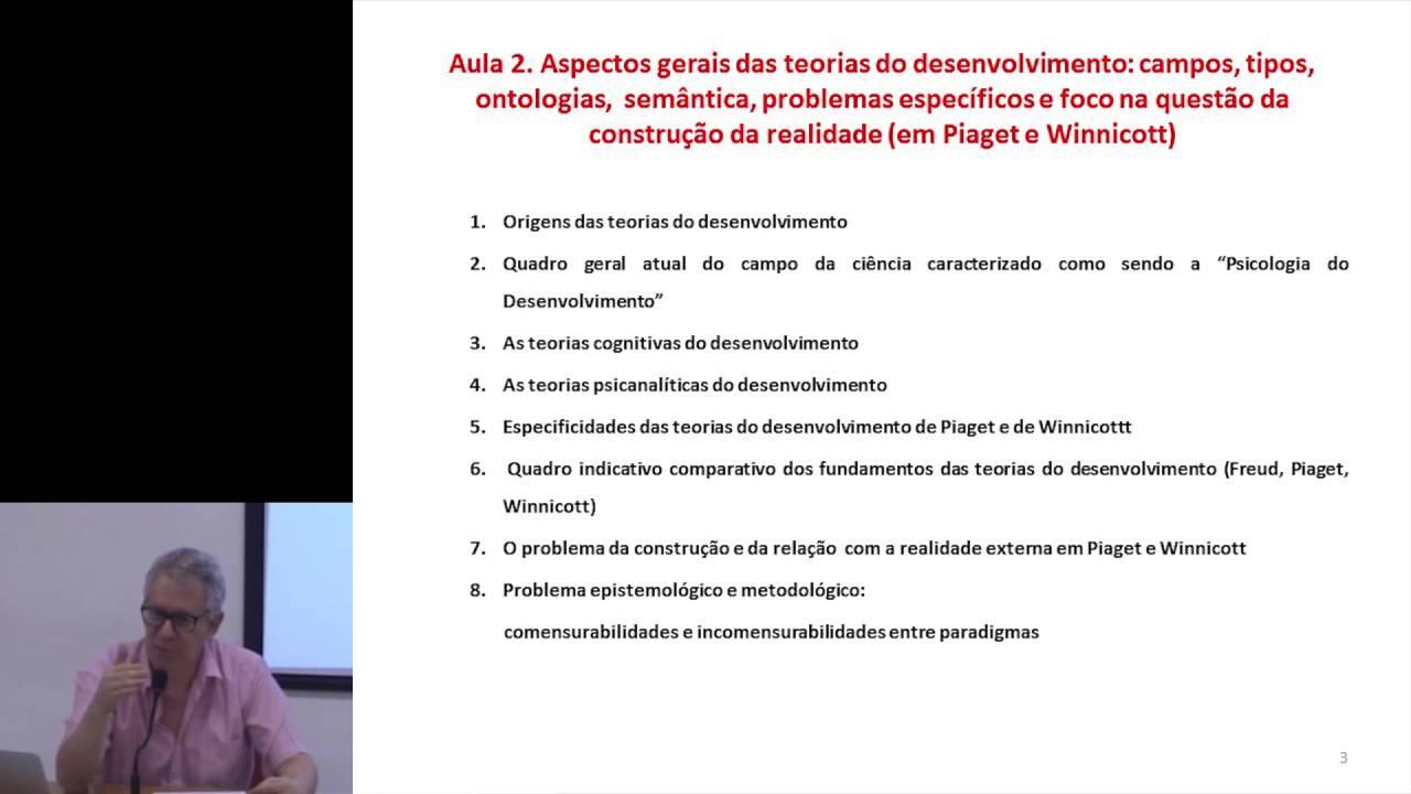 45aa94272b7 Teorias do Desenvolvimento  Aspectos Gerais (Pt.2 A construção da realidade  em Piaget e Winnicott)
