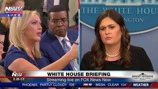 Download TENSE MOMENTS: Between reporters, Sarah Sanders at White House press briefing (FNN) Mp3 and Videos