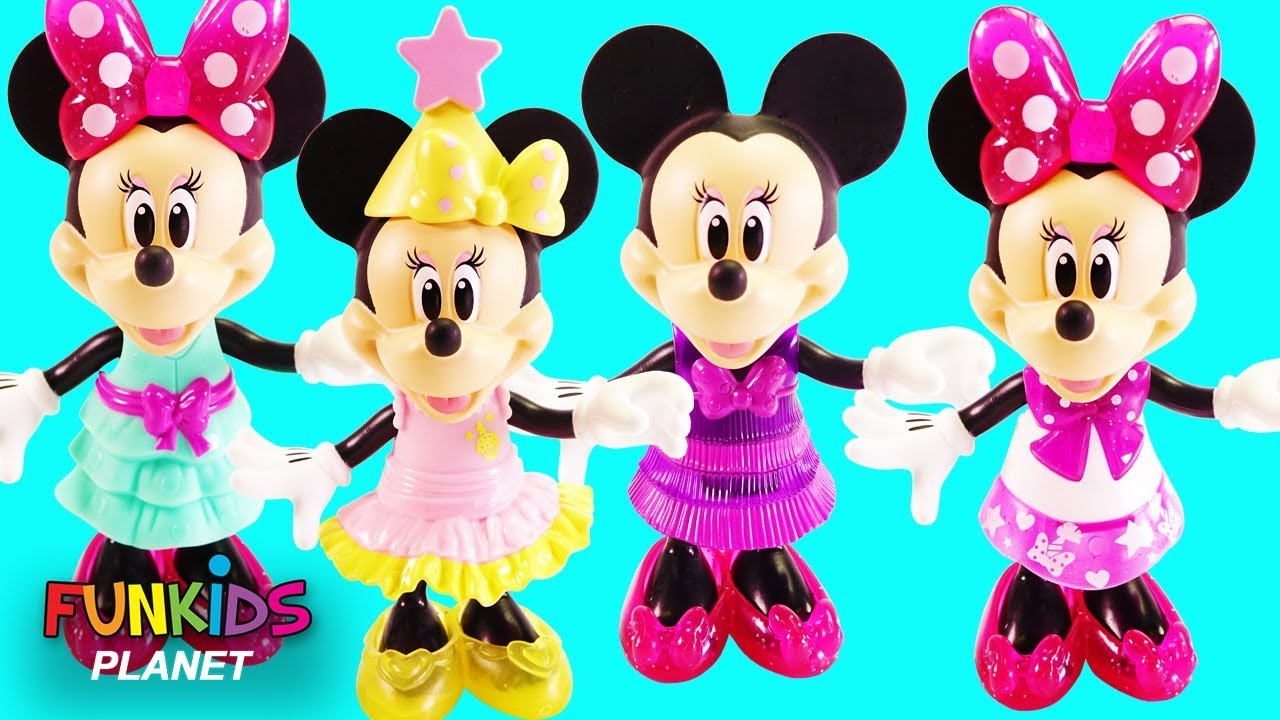 MINNIE MOUSE Party Gala Mix n\' Match Style Dress Outfits - YouTube