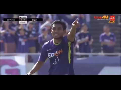 Teerasil dangda sanfrecce hiroshima frist assist vs Sagan Tosu j league 2018