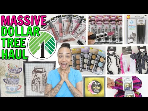MASSIVE DOLLAR TREE HAUL! BRAND NEW MAKEUP NEW DECOR AND SO MUCH MORE!