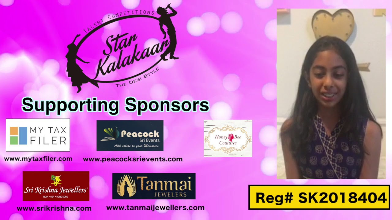 Participant Reg# SK2018-404 Introduction - US Star Kalakaar 2018 || DesiplazaTV