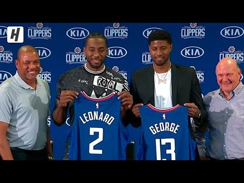 Kawhi Leonard & Paul George Full Introduction - Los Angeles Clippers | July 24, 2019