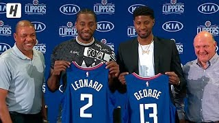 Kawhi Leonard & Paul George Full Introduction - Los Angeles Clippers | July 24, 2019