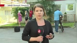 TV4Nyheterna på plats i Gårdsten - Nyheterna (TV4)