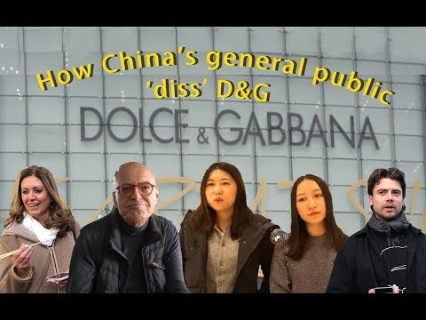 Chinese REACT to D G racism row - YouTube ae80d294cf3bc