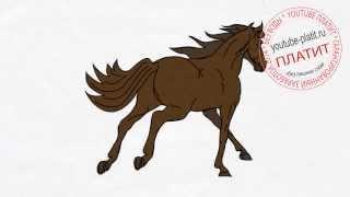 Как быстро нарисовать бегущую лошадь  Рисуем лошадь поэтапно(как нарисовать лошадь, как нарисовать лошадь поэтапно, как нарисовать карандашом лошадь, как нарисовать..., 2014-08-07T05:38:35.000Z)