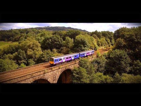 Drone Footage Cinematic Goyt Viaduct Trainline Bridge / DJI P3S / Erik Satie - Gymnopédie No.1