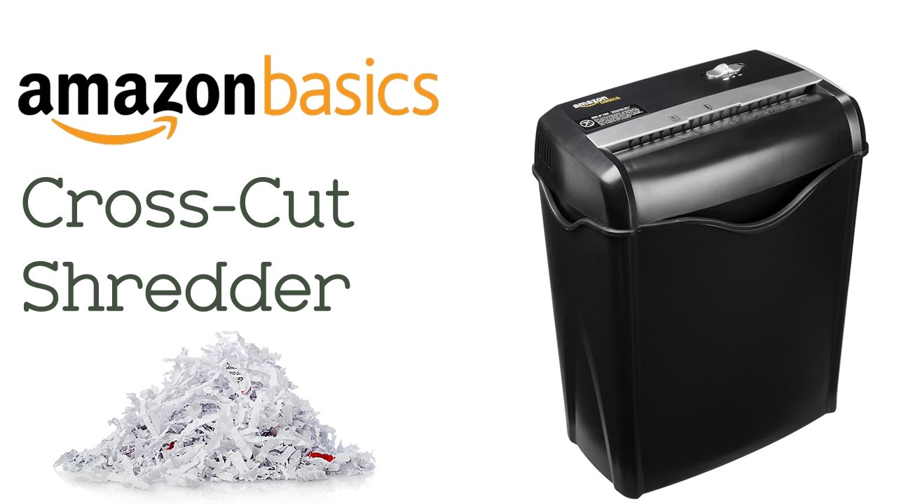 Amazon Basics 5-6 Sheet Cross-Cut Shredder - YouTube